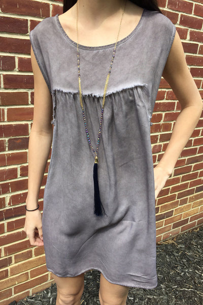 Distressed Taupe Top / Dress