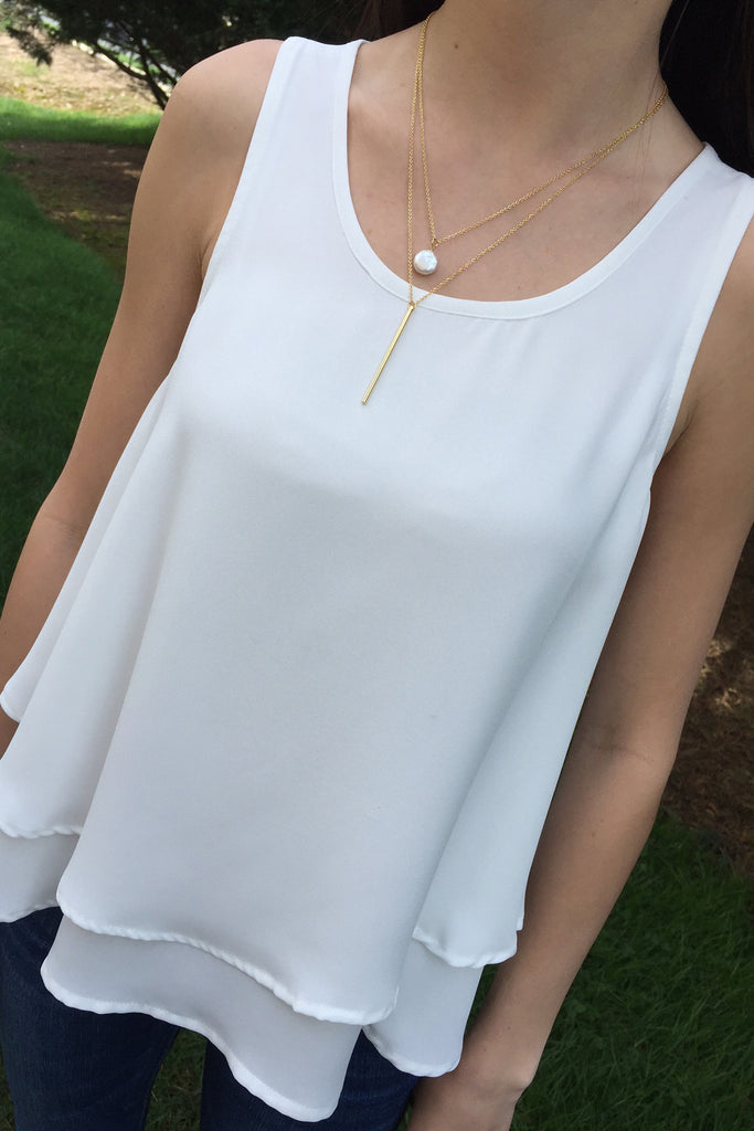 White Double Layer Tank