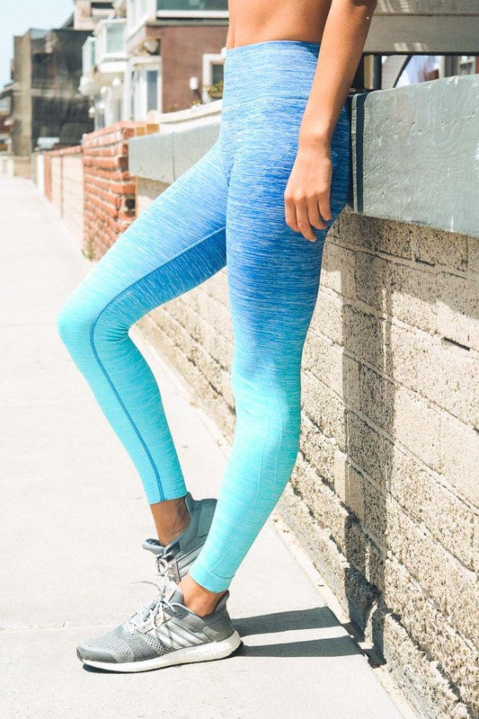 Ombre Blue Leggings