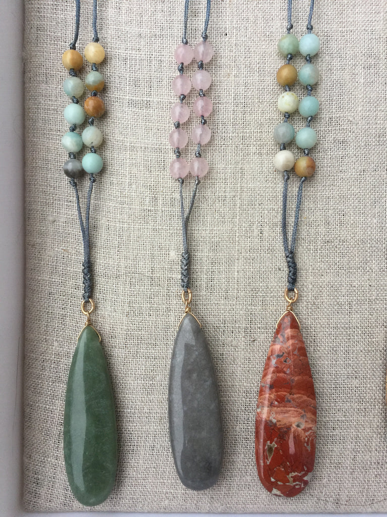 Stone necklaces