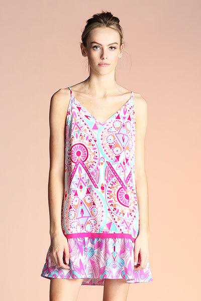 Jewel Medallion Print Dress