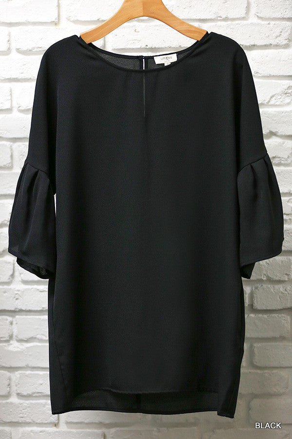 Black Bell Sleeved Blouse