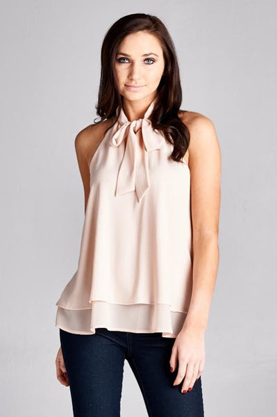 Blushing Bow Blouse