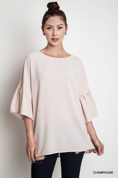 Champagne Bell Sleeved Blouse