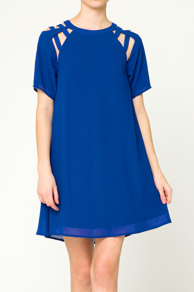 Cobalt Cut Out Dress