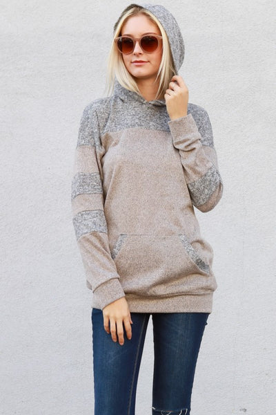 Gray and Taupe Hoodie