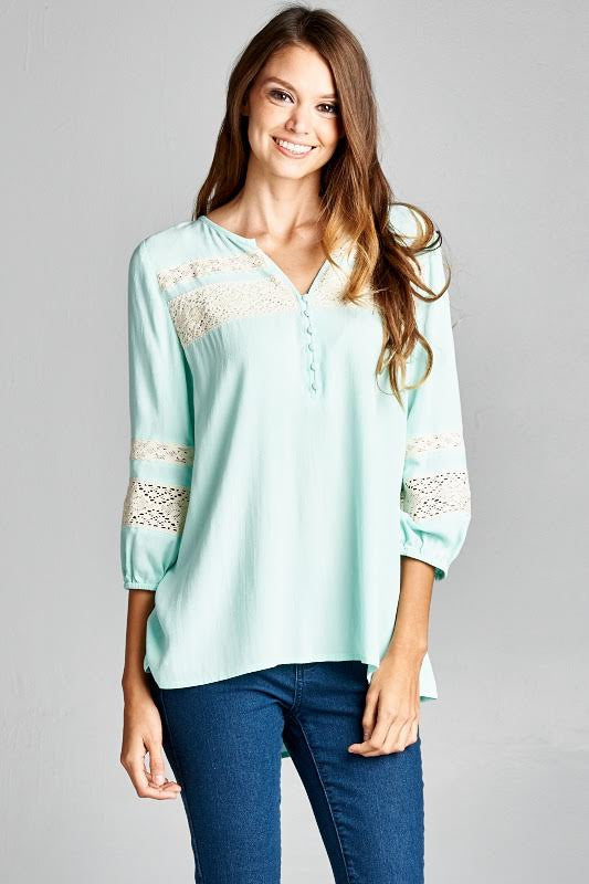 Aqua Mint Julip Blouse