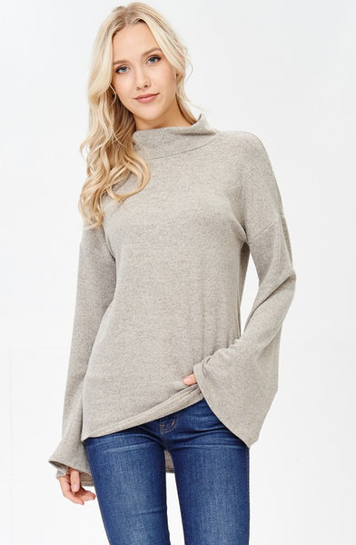 Bell Sleeved Turtleneck