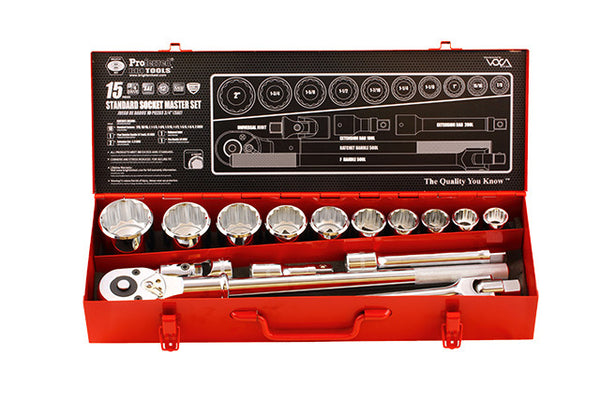 "3/4"" Drive Standard Socket Master Set - 15 Piece"