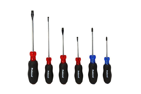 6 Piece Acetate Cushion Grip Screwdriver Set