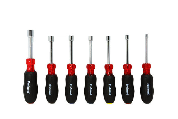 7 Piece Hollow Shank Nut Driver Set
