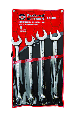 Combination Wrench Set - 4 Piece