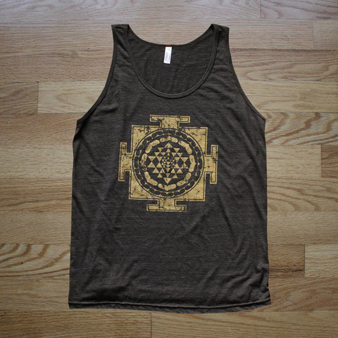 Gold Sri Yantra Unisex Tank Top