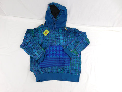 Hand woven cotton hoodie street wear styled
