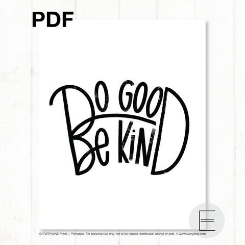 DO GOOD BE KIND PDF BY EVERYKIND