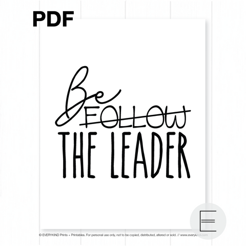 BE THE LEADER PDF BY EVERYKIND
