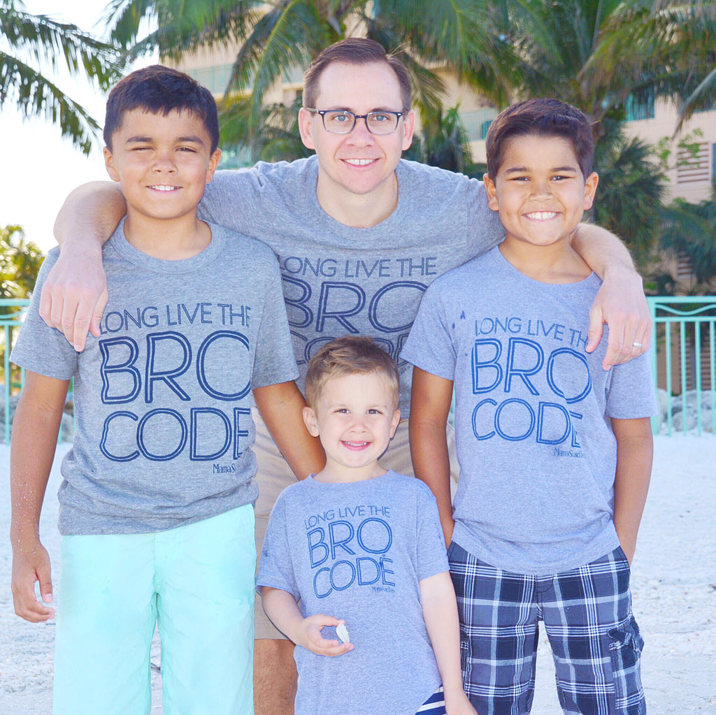 LONG LIVE THE BRO CODE KIDS GRAPHIC T-SHIRT BY EVERYKIND