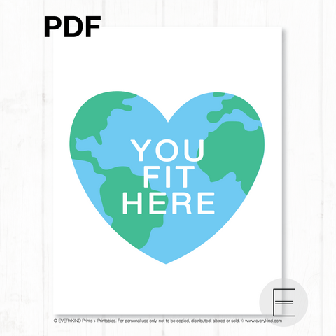YOU FIT HERE (heart globe) PDF