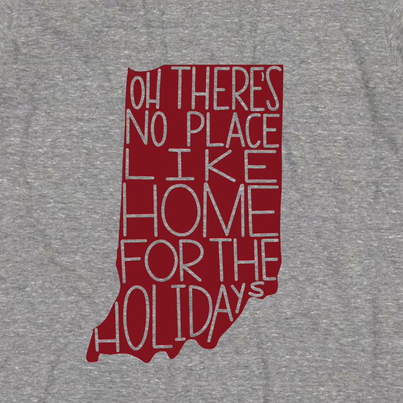 INDIANA THERES NO PLACE LIKE HOME FOR THE HOLIDAYS GRAPHIC T-SHIRT BY EVERYKIND