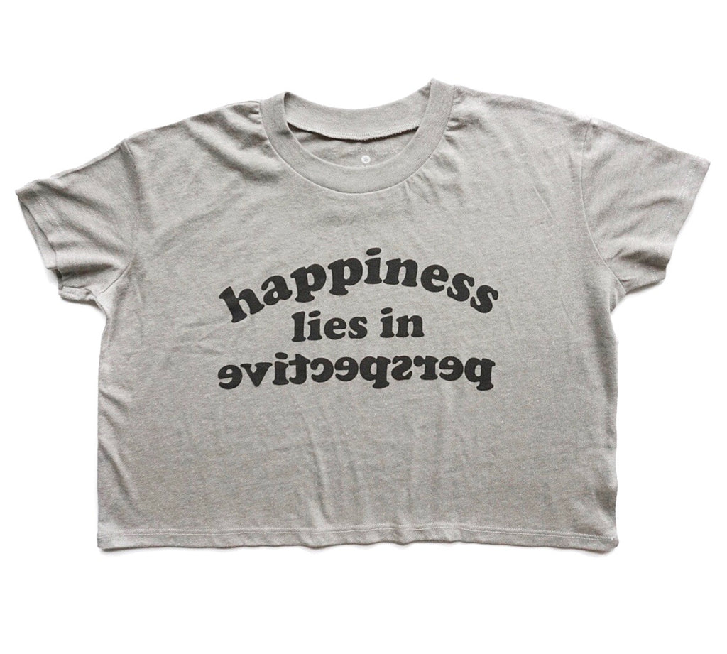 Happiness Lies in Perspective Adult Crop Top by EVERYKIND