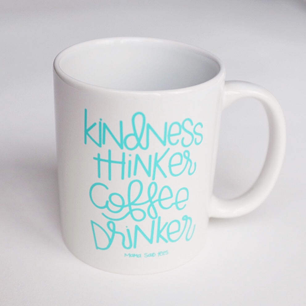 KINDNESS THINKER COFFEE DRINKER MUG BY EVERYKIND