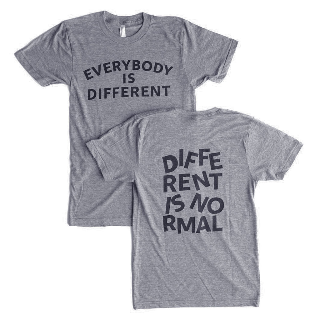 EVERYBODY IS DIFFERENT, DIFFERENT IS NORMAL ADULT GRAPHIC TEE BY EVERYKIND