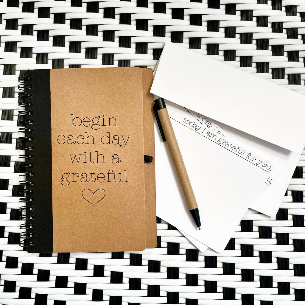 BEGIN EACH DAY WITH A GRATEFUL HEART JOURNAL AND CARD PACK