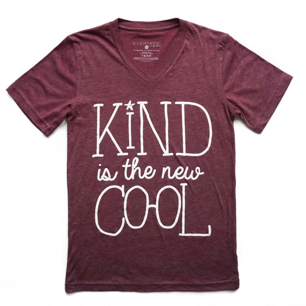 Kind is the New Cool Maroon by EVERYKIND