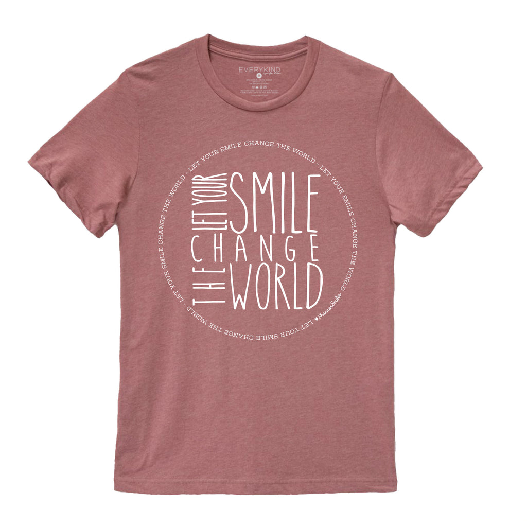 LET YOUR SMILE CHANGE THE WORLD ADULT T-SHIRT ♡ For Shannon