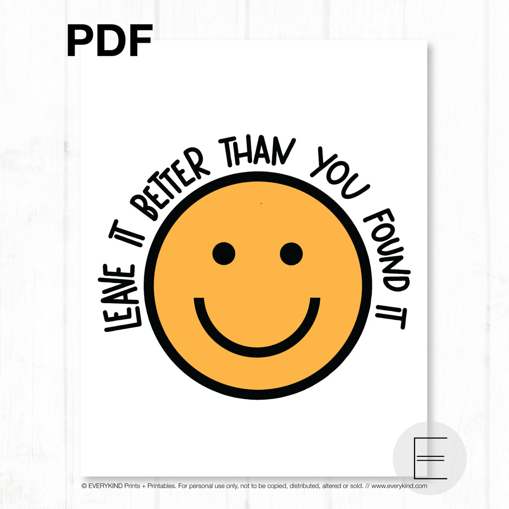 PROTECTIVE MASK DONATION PRINTABLE - LEAVE IT BETTER THAN YOU FOUND IT PDF