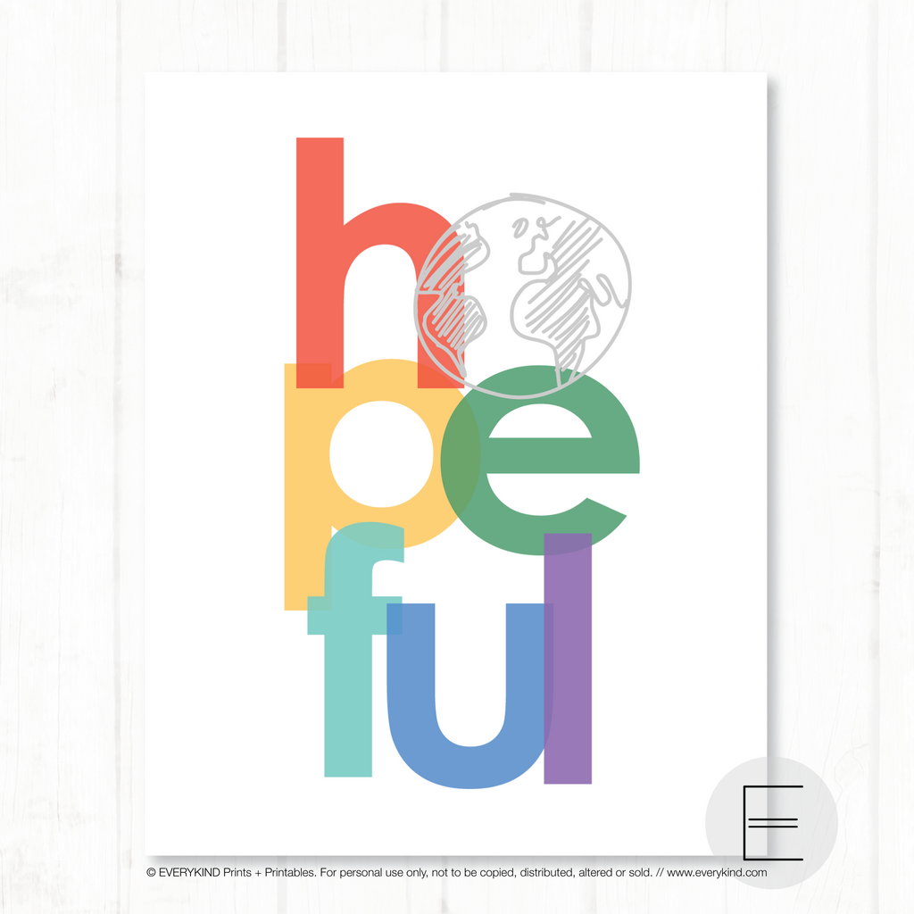HOPEFUL PRINT