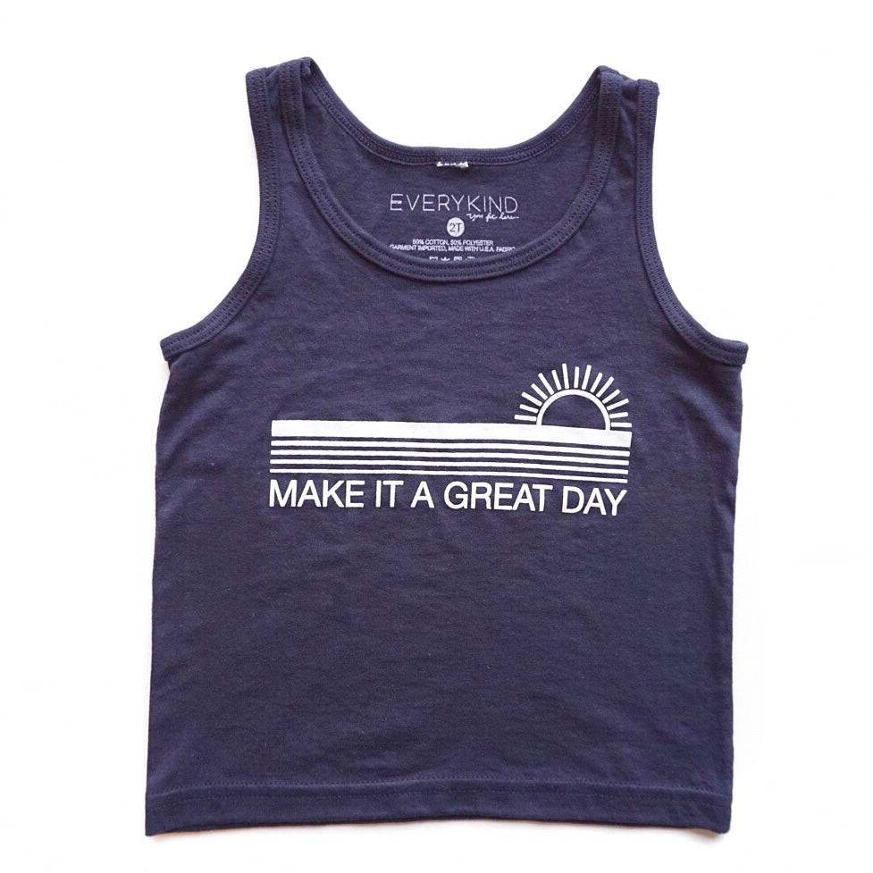 MAKE IT A GREAT DAY KIDS TANK (NAVY)