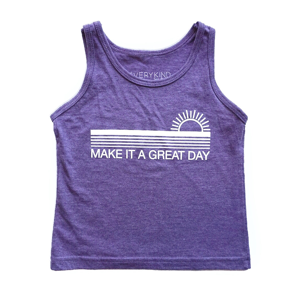 MAKE IT A GREAT DAY KIDS TANK (PURPLE)