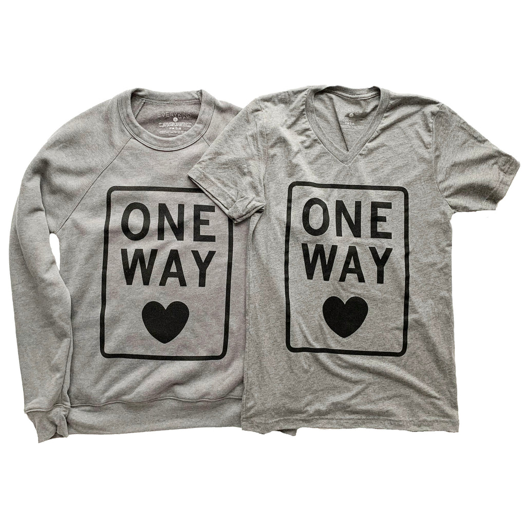 ONE WAY ADULT T-SHIRT/SWEATSHIRT