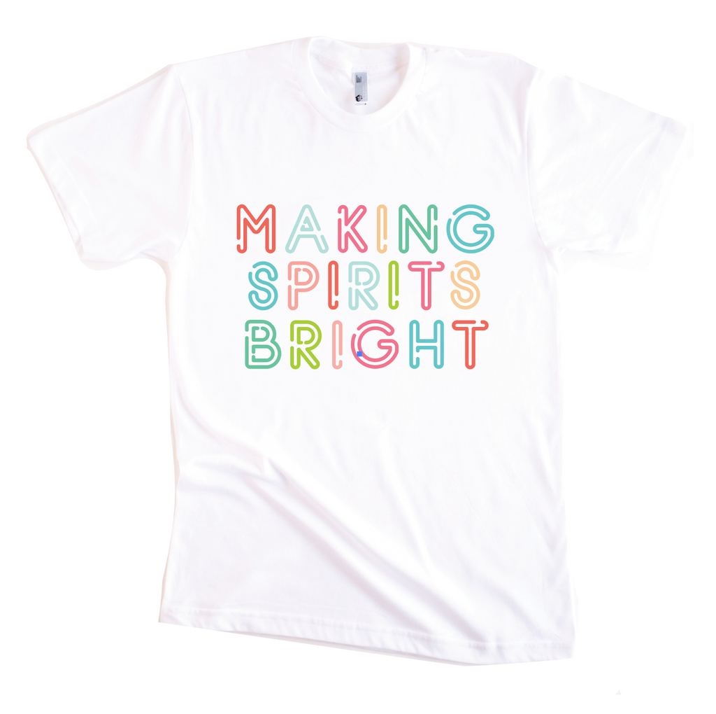 MAKING SPIRITS BRIGHT KIDS GRAPHIC T-SHIRT BY EVERYKIND