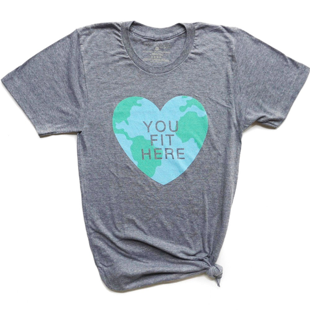 You Fit Here Adult Graphic T-Shirt by EVERYKIND