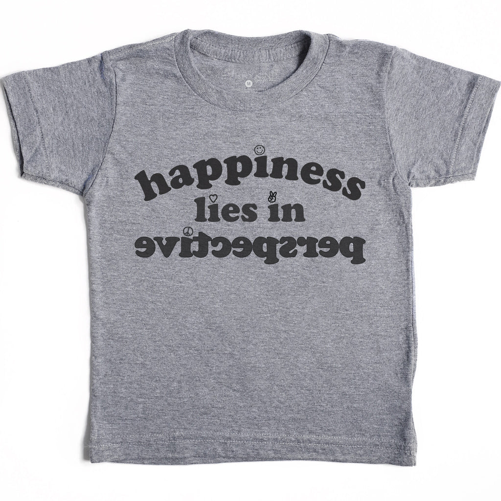 HAPPINESS LIES IN PERSPECTIVE KIDS T-SHIRT