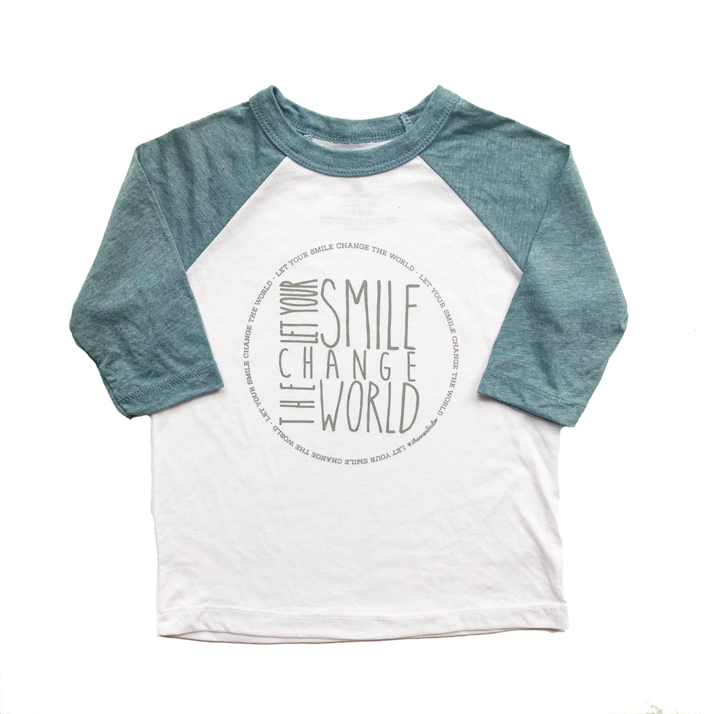 LET YOUR SMILE CHANGE THE WORLD KID RAGLAN
