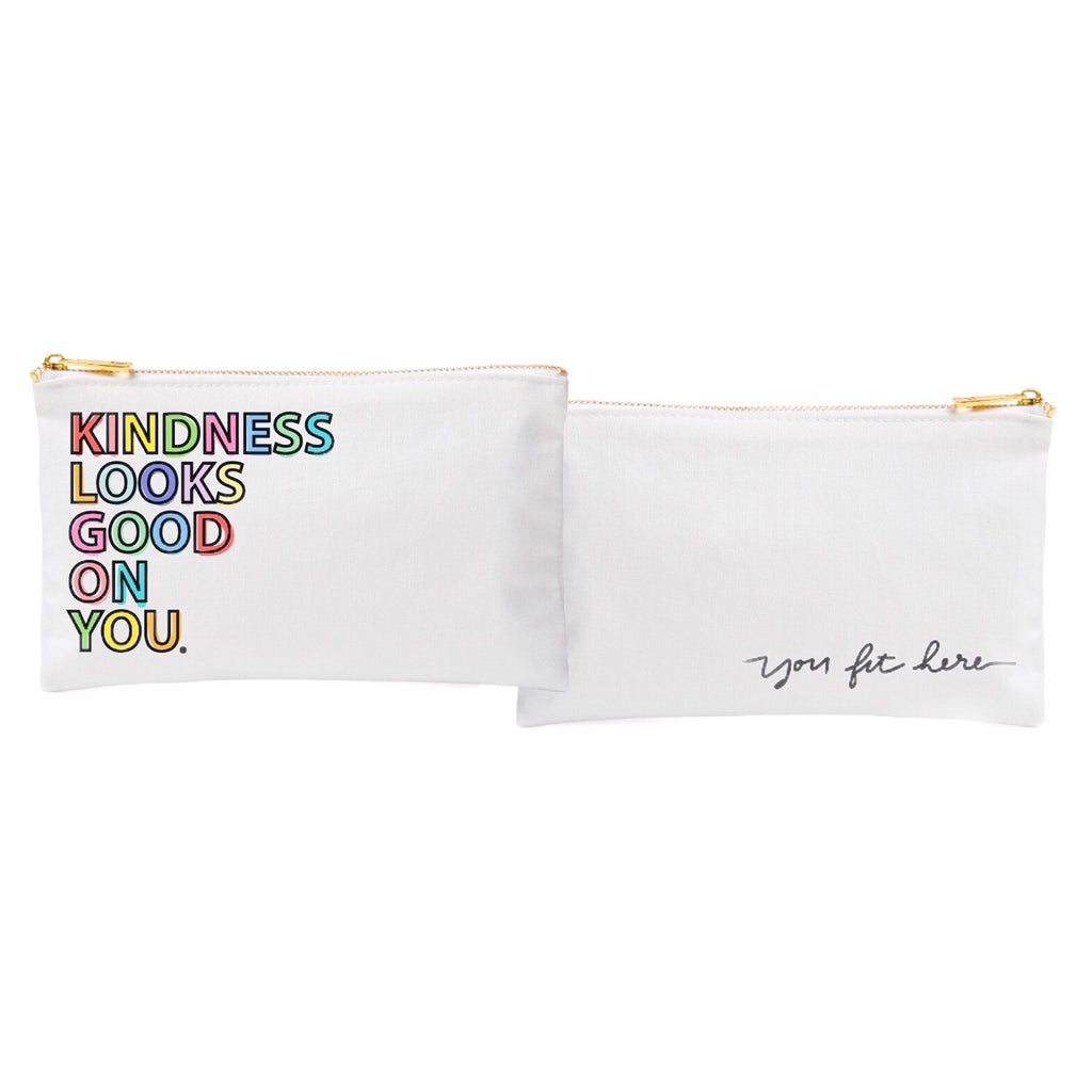 KINDESS LOOKS GOOD ON YOU MAKEUP POUCH