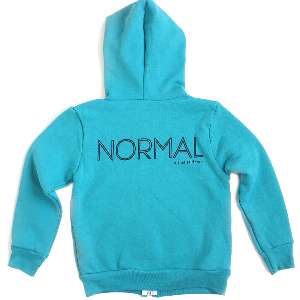 LET'S REDEFINE NORMAL KIDS ZIP HOODIE