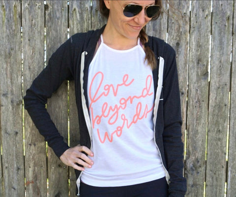 LOVE BEYOND WORDS ADULT TANK TOP