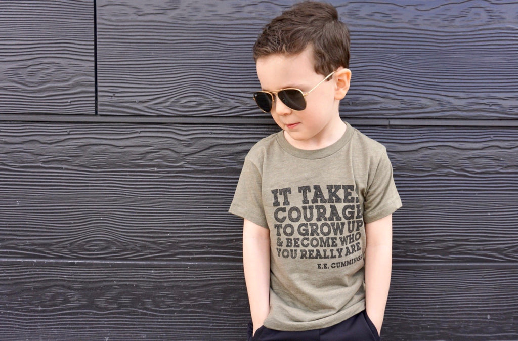 IT TAKES COURAGE KID T-SHIRT