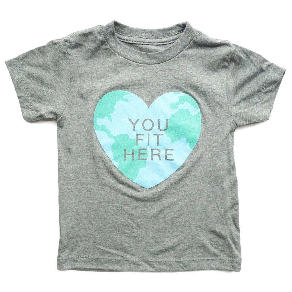 YOU FIT HERE KIDS T-SHIRT