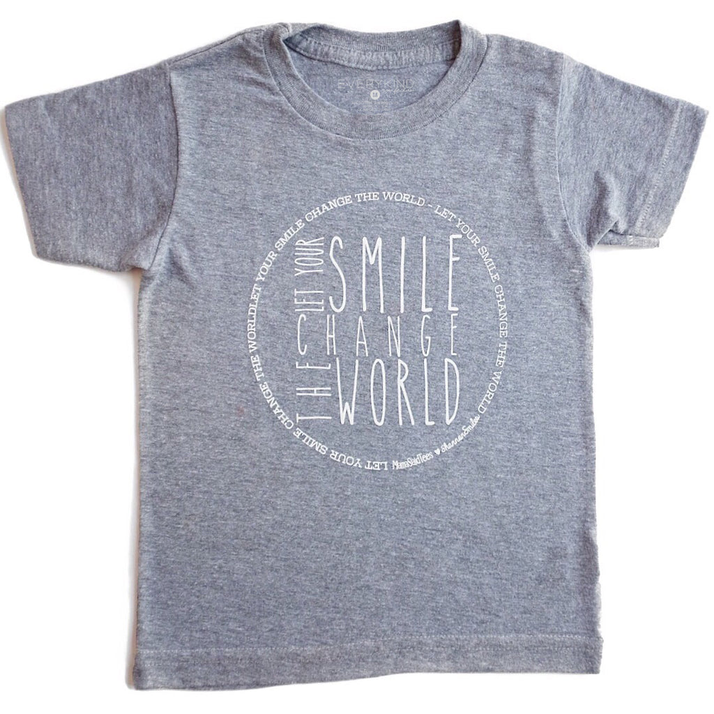 LET YOUR SMILE CHANGE THE WORLD KIDS T-SHIRT