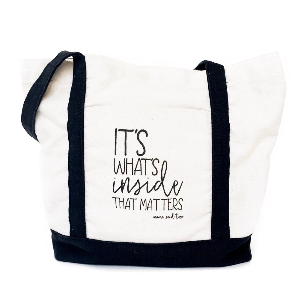 IT'S WHAT'S INSIDE THAT MATTERS TOTE BY EVERYKIND