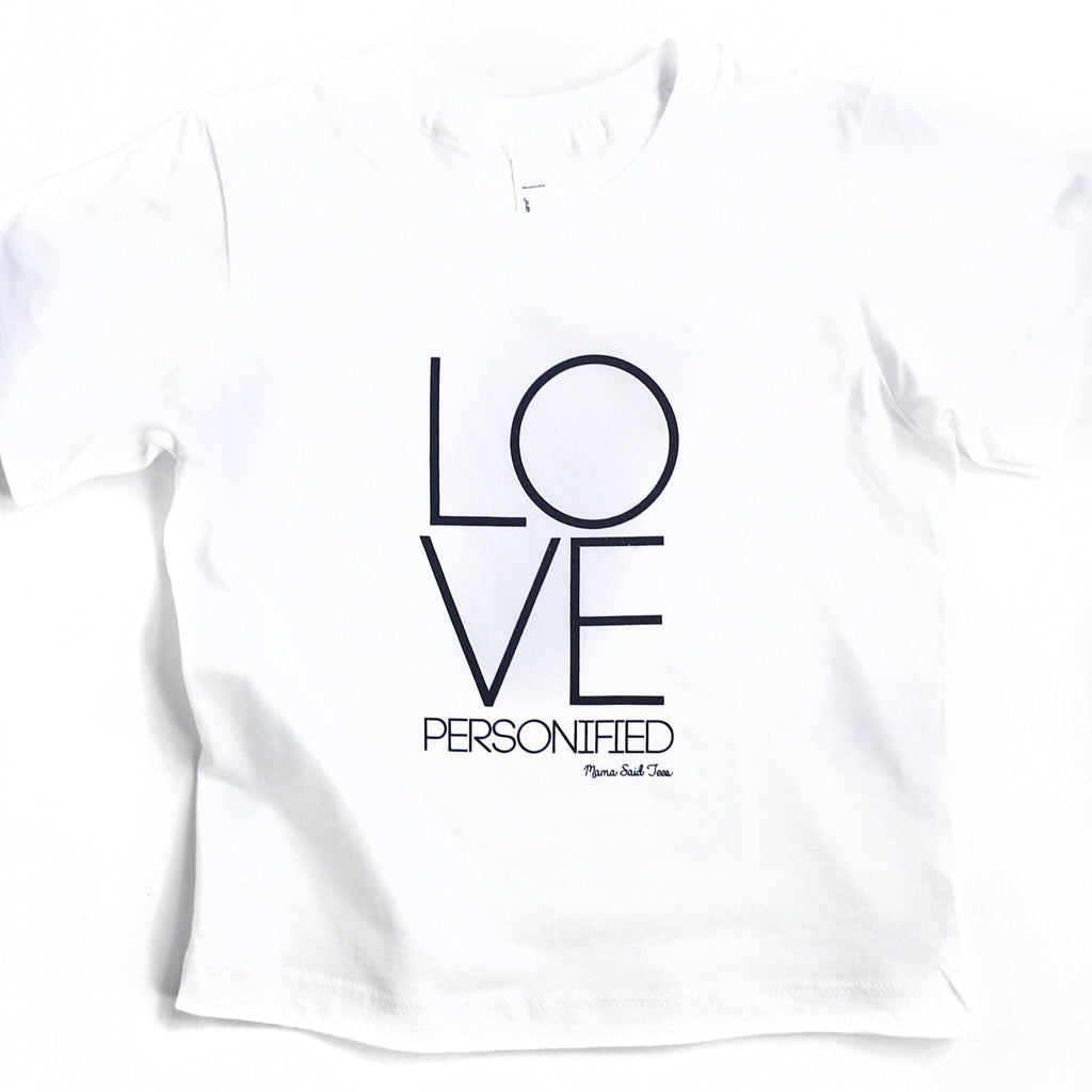 LOVE PERSONIFIED KIDS T-SHIRT