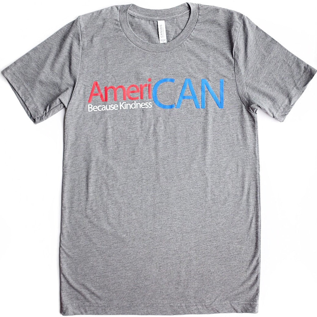 AMERICAN ADULT GREY T-SHIRT