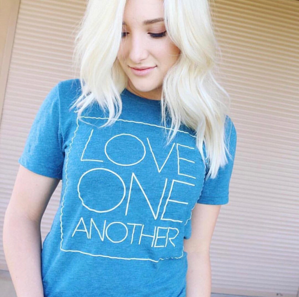 LOVE ONE ANOTHER ADULT GRAPHIC T-SHIRT BY EVERYKIND