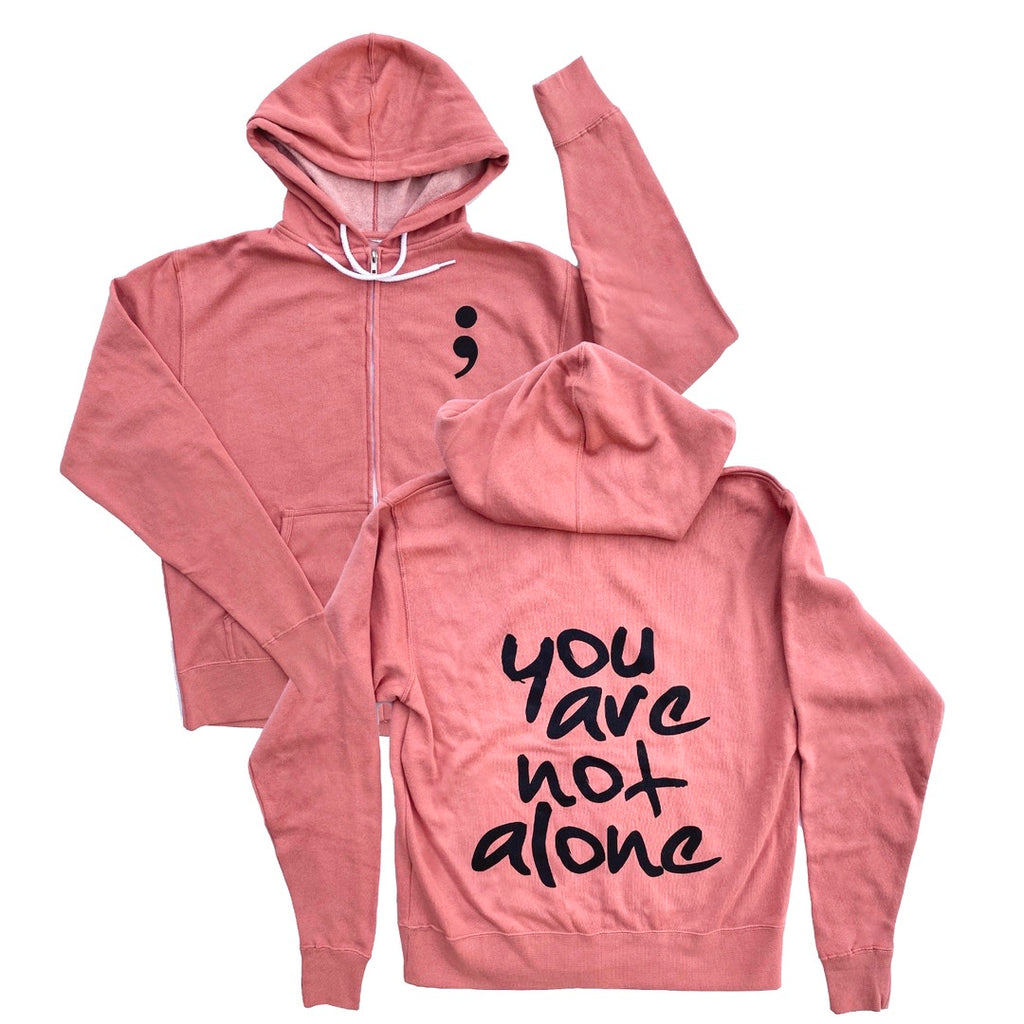 YOU ARE NOT ALONE ADULT HOODIE