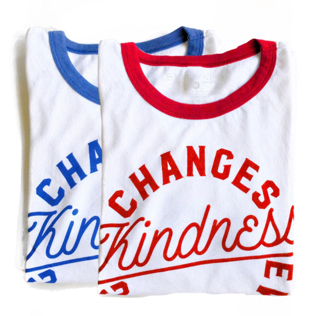 KINDNESS CHANGES EVERYTHING ADULT GRAPHIC T-SHIRT BY EVERYKIND
